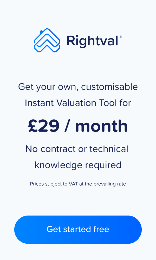 Banner to sign up for Rightval's instant valuation tool