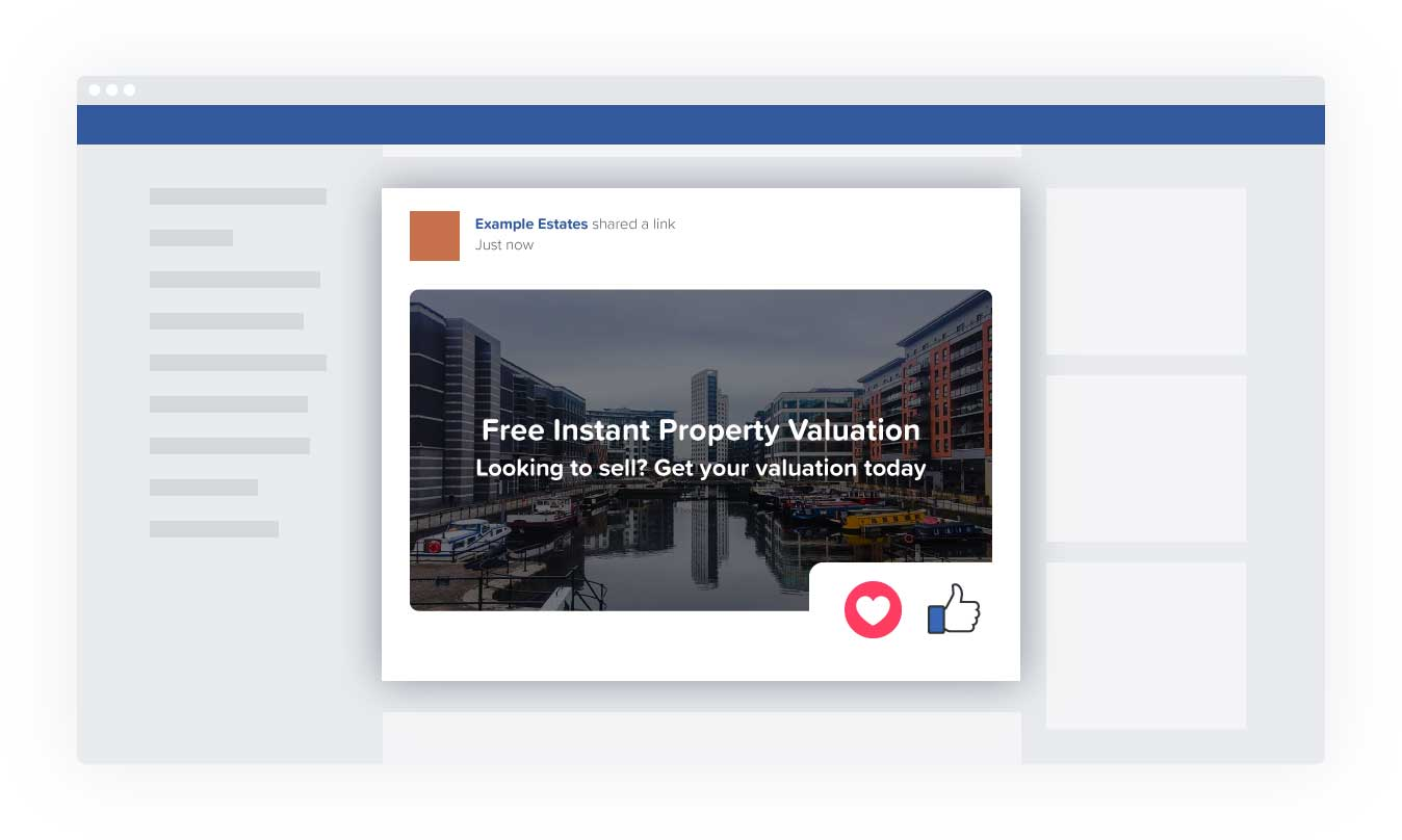 Promoting your Rightval instant valuation tool to prospects